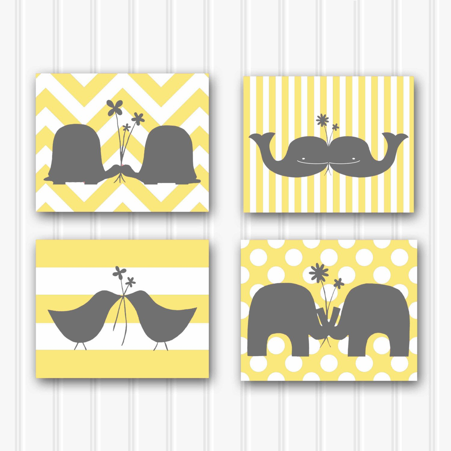 Baby Girl Nursery Art, Modern Nursery Decor, Kids Wall Art, Set of ...
