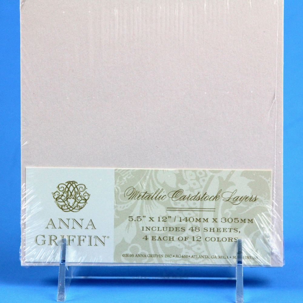 Anna Griffin Metallic Cardstock Layers Paper Crafts Card Making  Scrapbooking New