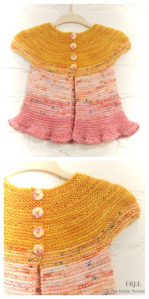 Easy Rosebud Baby Cardigan Free Knitting Pattern ...