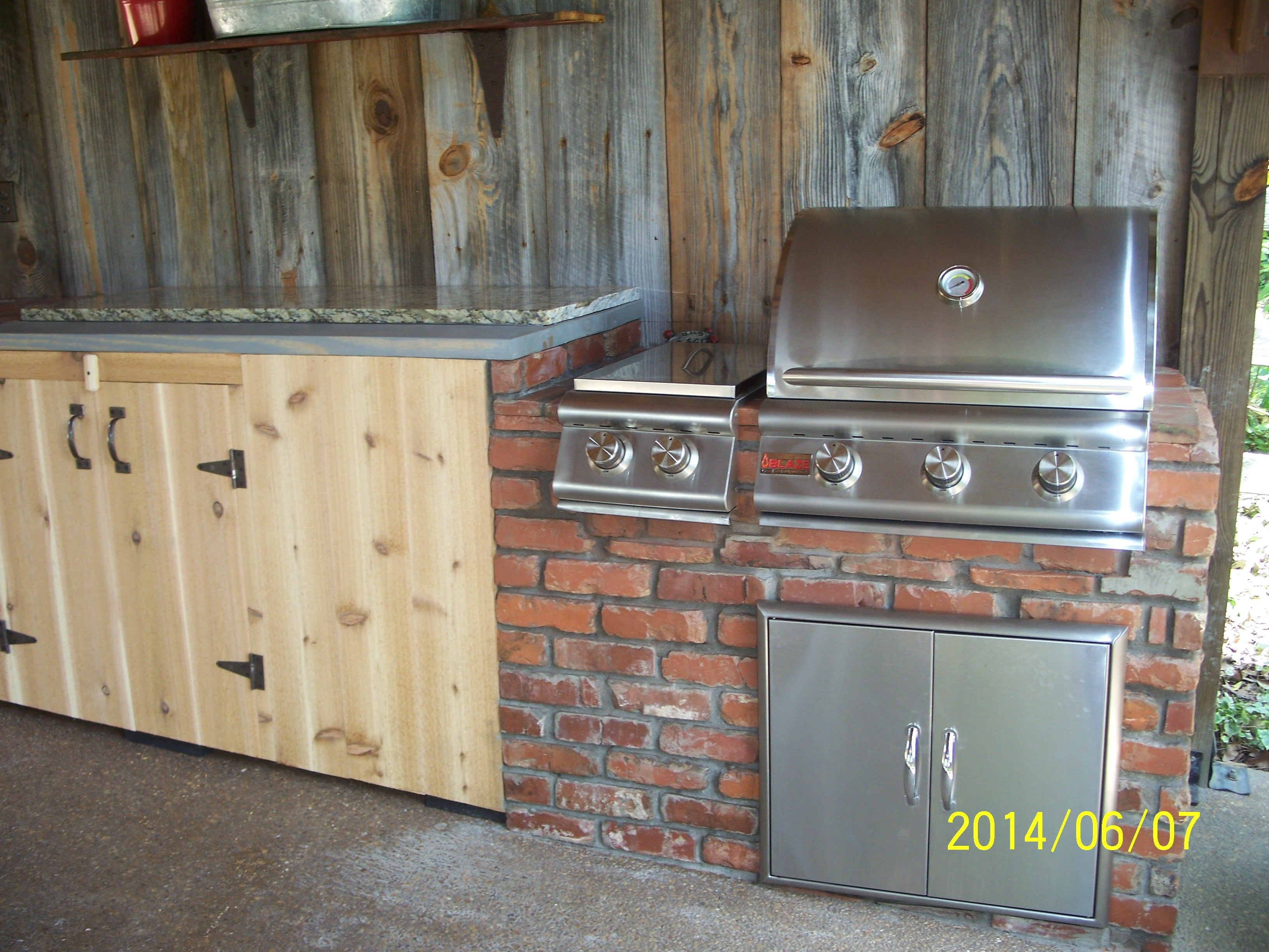 This Is A Simple Outdoor Kitchen With A 3 Burner Blaze