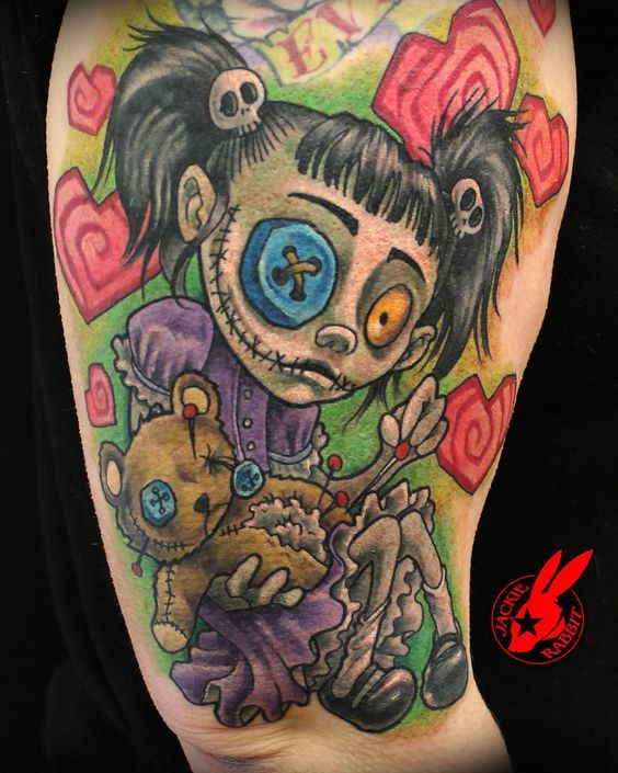 Tattoo Voodoo Dolls Creepy Tattoos Kid Tattoo