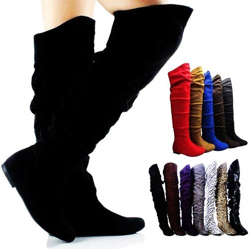Knee High Lace up Boots No Heel Black - Knee High Lace up Boots No ...