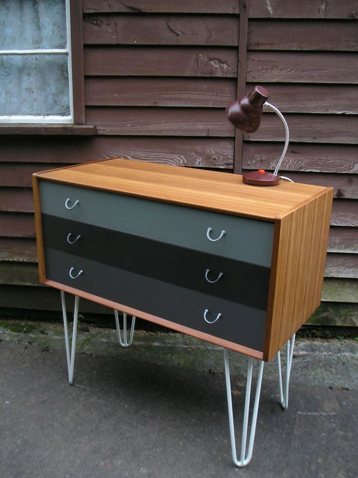 MID CENTURY VINTAGE RETRO G PLAN CHEST DRAWERS UPCYCLED PAINTED