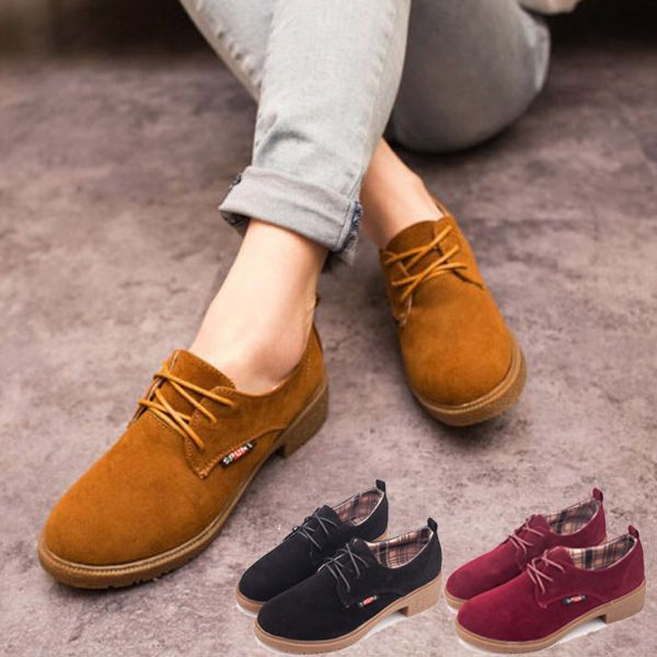 Shoes For Women Low Heel Pointed Toe Loafers Casual Yellow Red White