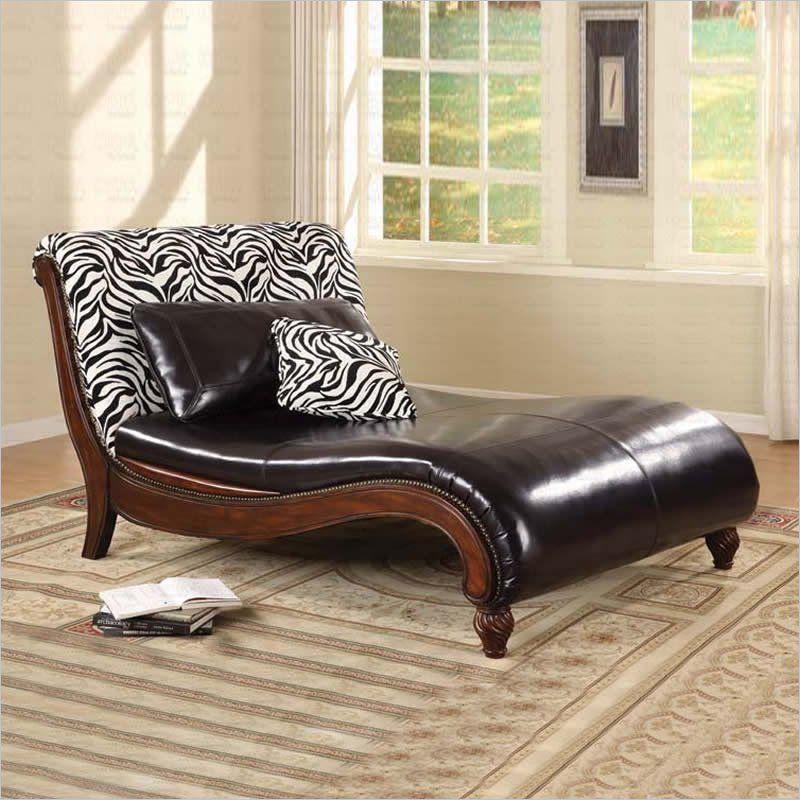 Coaster Zebra Animal Print Chaise Lounge 550061 My Bedroom