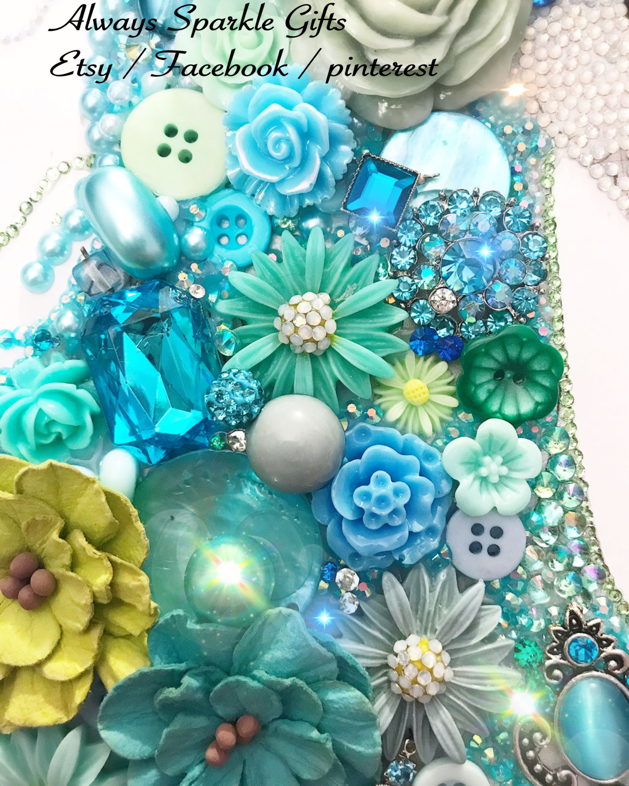 Button Art Unicorns & Mixed Media Art By Alwayssparklegifts