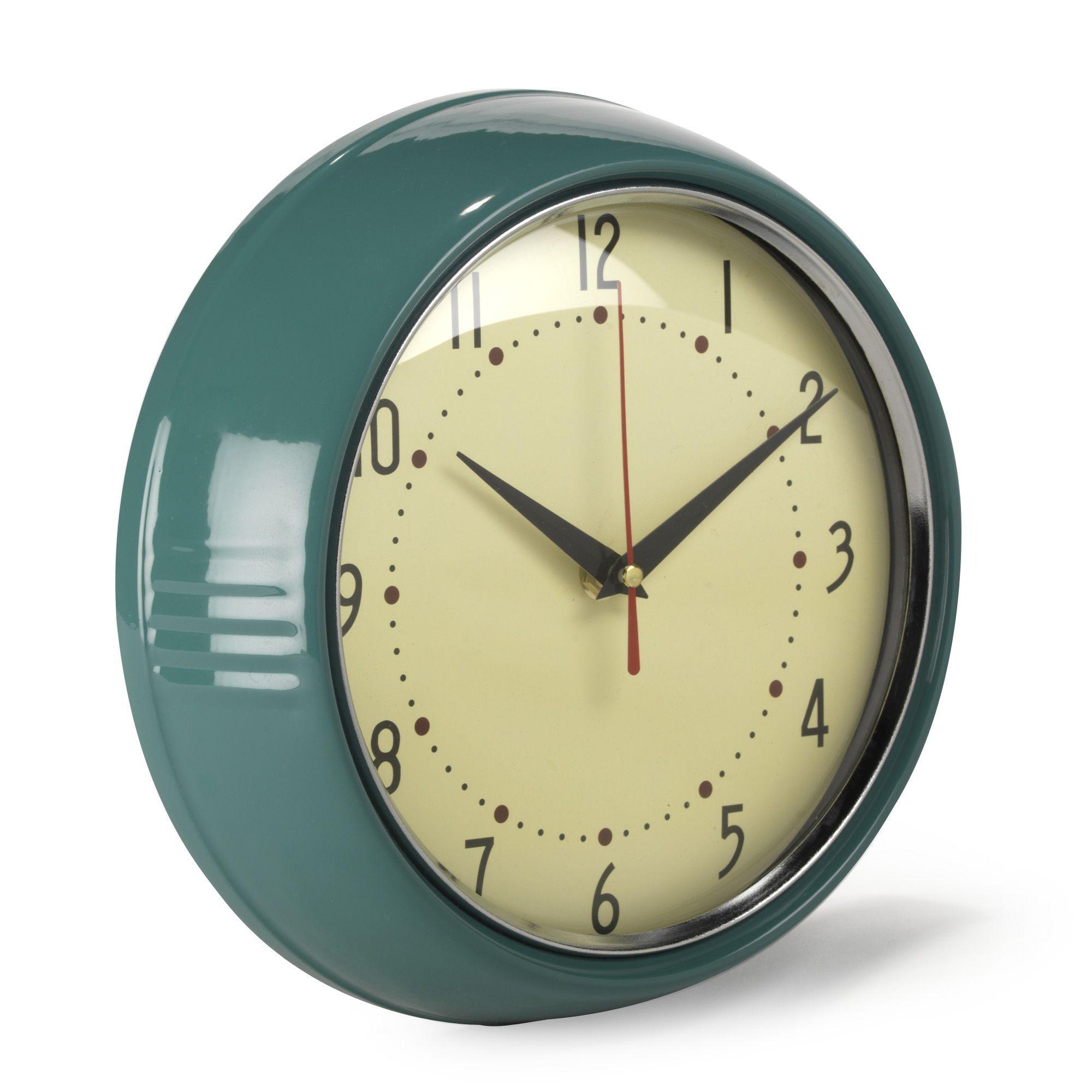 Horloge Murale Au Design Retro Vintage Horloges Horloges Reveils Toute La Deco Par Type De Produit Decorat Horloge Murale Parement Mural Horloge Vintage