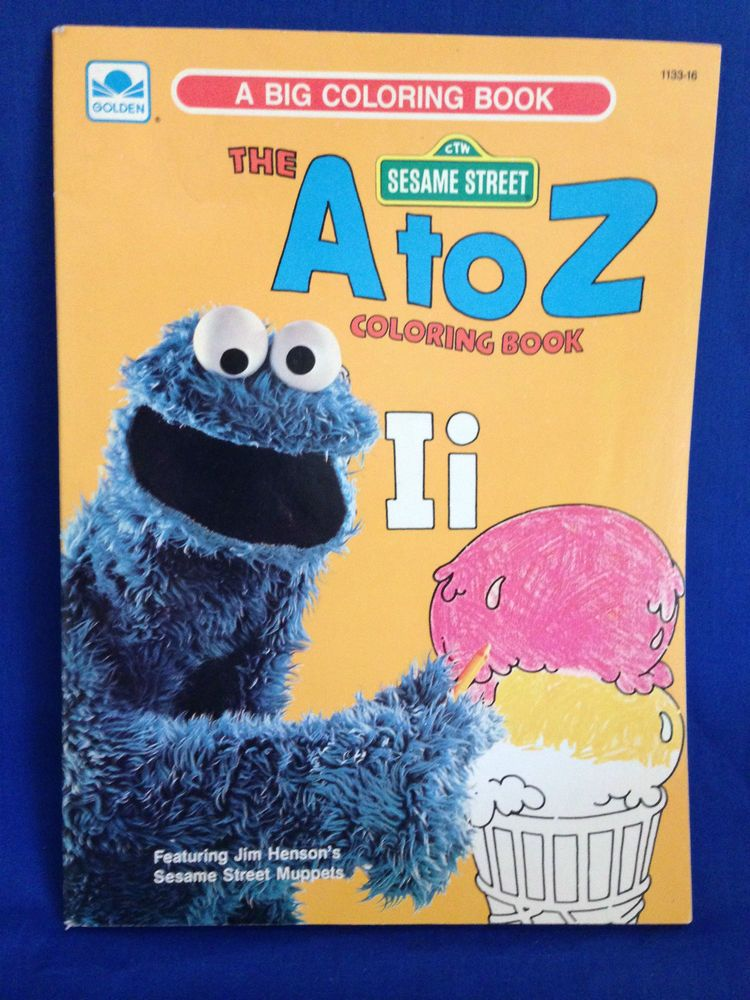 Vintage Sesame Street Muppets The A to Z Big Coloring Book 1976 NEW ...
