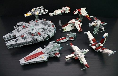 Mini Lego Star Wars Sets On Display With Images Lego Star Wars