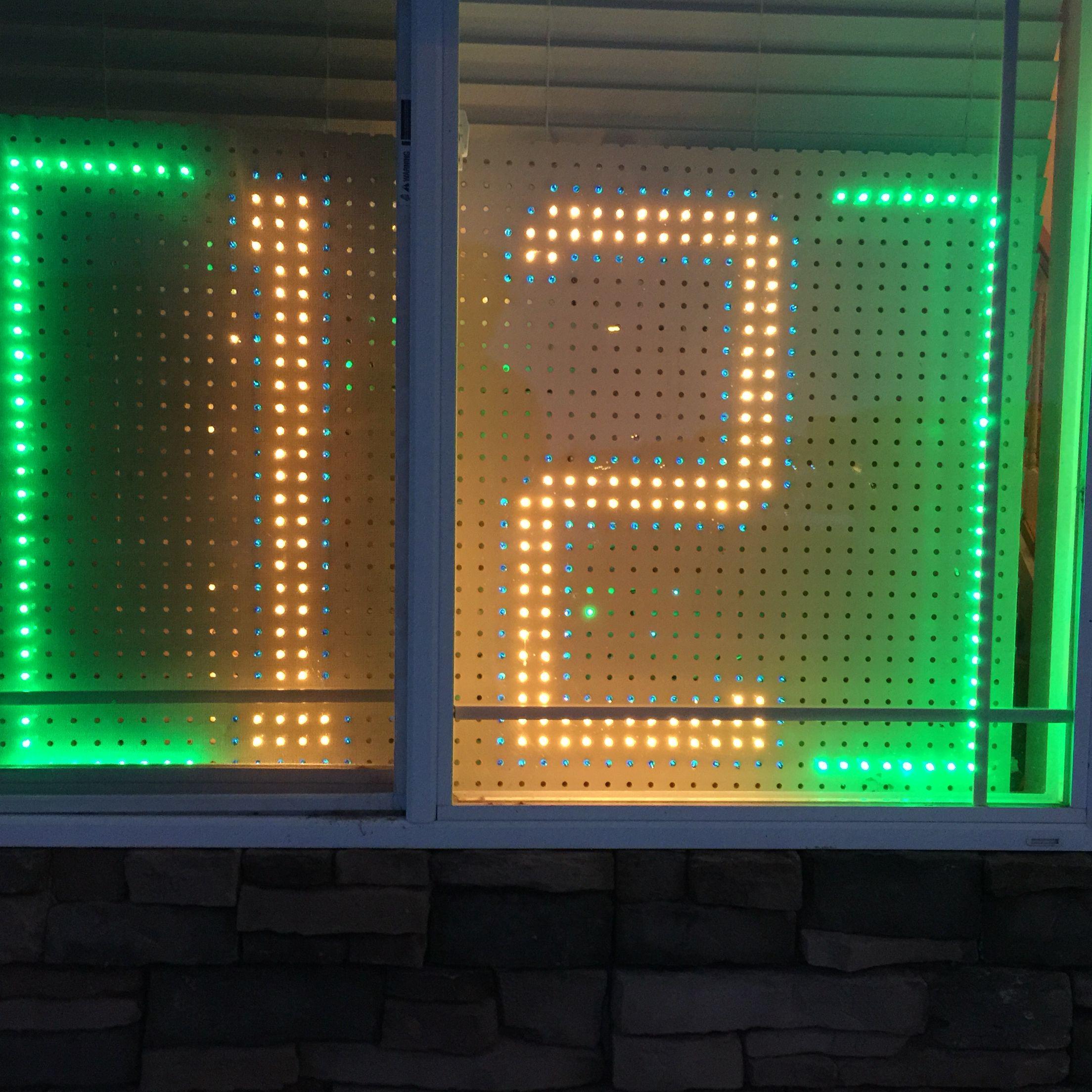 Seahawks Christmas Lights.Homemade 12 Seahawks Fan Sign I Made With Christmas Lights