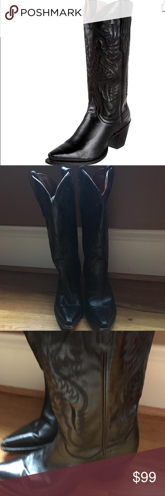 3ebce73c70e Dan Post Women's Maria black leather western boot Infuse your urbane ...