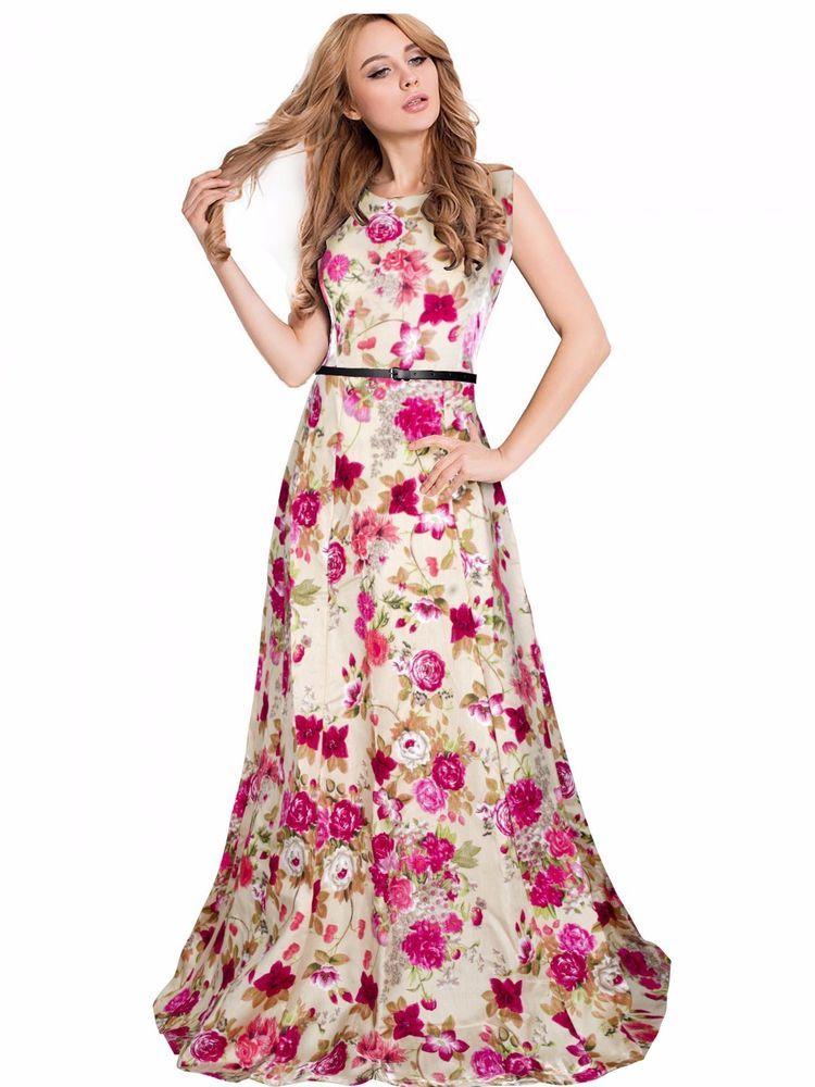 56b7af58e1b Bollywood New Party Wear Stylish Designer Printed Western Gown Dresses With  Belt  FlowersFashion  PartyWear
