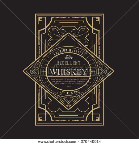 Western Design Template for Handcrafted Whiskey Beer Label Design ...
