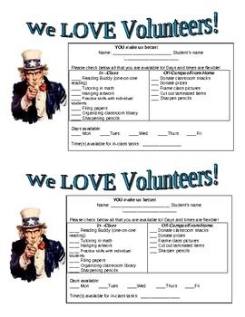Recruitment Request Form | Freebie Volunteer Request Form Volunteer Recruitment Pta