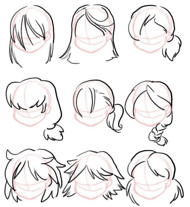 Sorry To Anyone Waiting For The Hair References I Promised Here They Are And I Chibi Hair Hair Reference Boy Hair Drawing