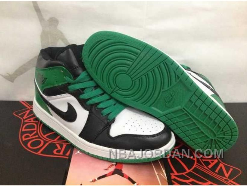 0f132914338a7f NIKE AIR JORDAN 1 MENS CELTIC GREEN BLACK WHITE HIGH TOP DMP 60 PACK SHOES  Only  84.00