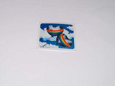 Vintage 80s Very Rare Rainbow Heart Balloon Sticker