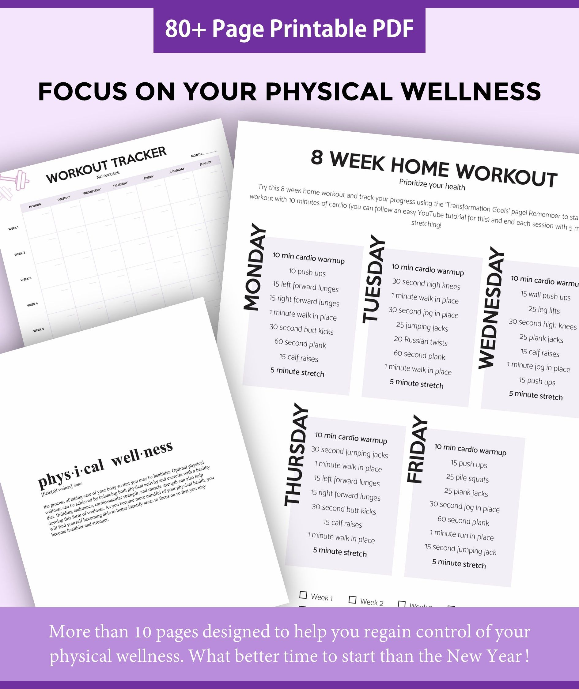 Use this instant printable self-care planner to make the