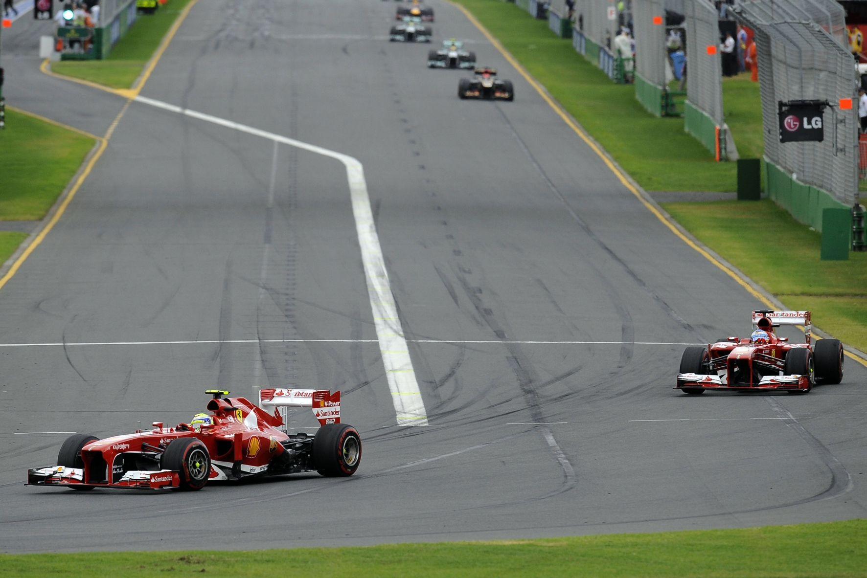 GP da Austrália Ferraris na pista!