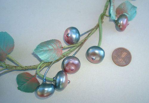 Vtg Millinery Iridscent Blue Rose Berries Leaves Wedding Trim Hats Doll Bear | eBay