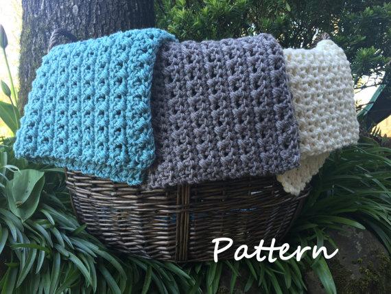 Pdf Crochet Mini Blanket Pattern Cross Stitch Blanket Basket