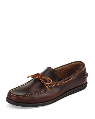 Yarmouth Leather Boat Shoe, Brown