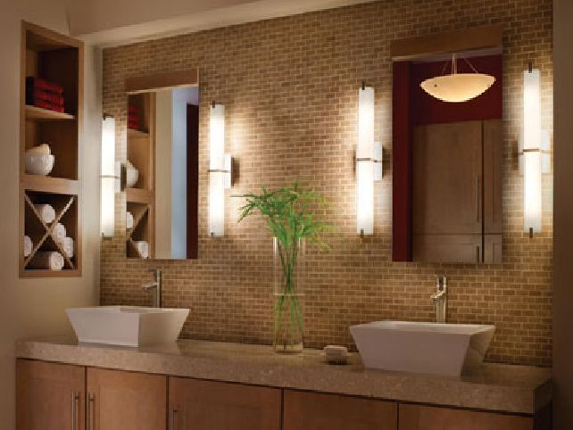 Bathroom Lighting And Mirrors Design bathroom mirror and lighting ideas | bathroom - lighting over