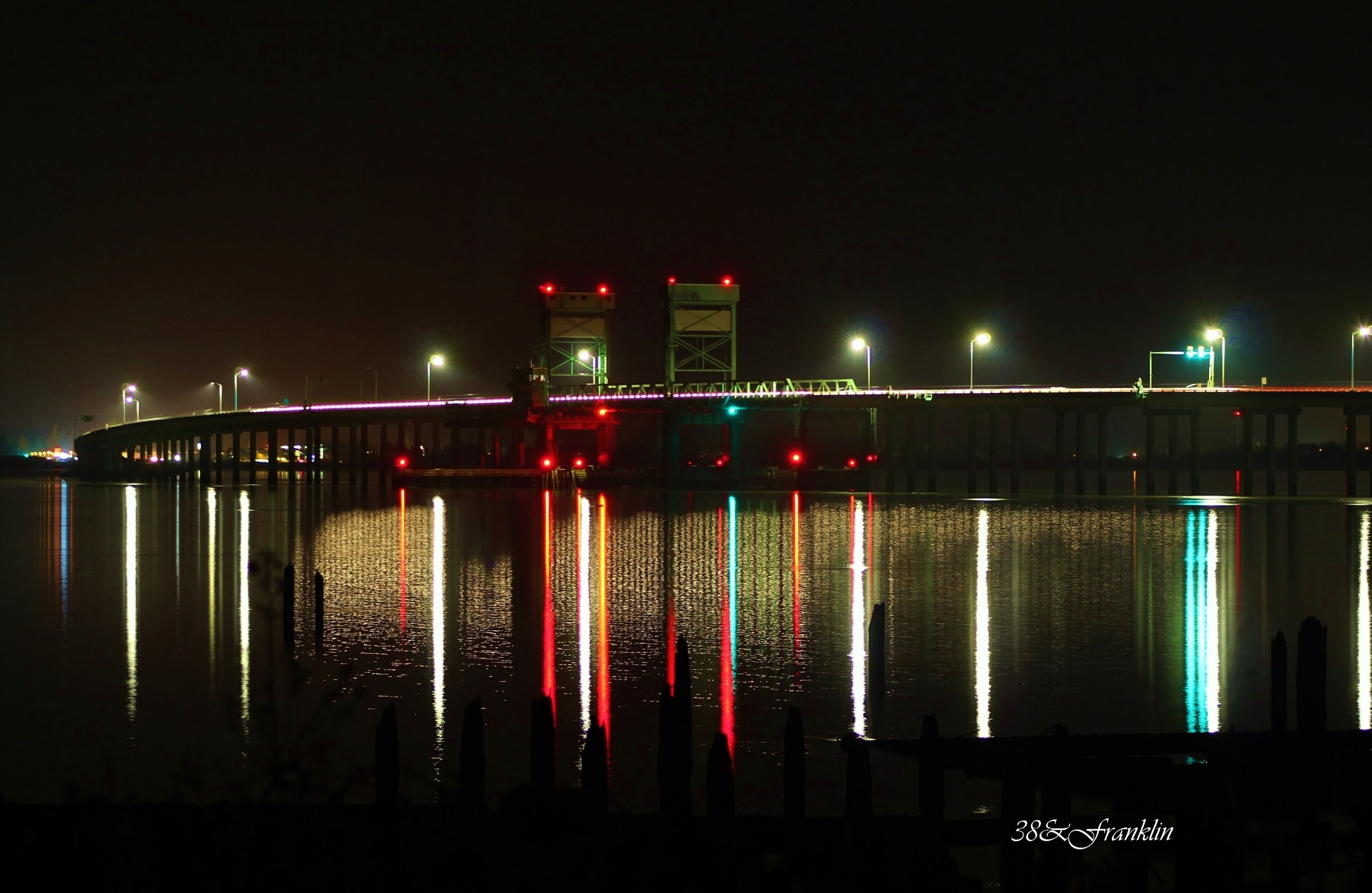 Youngs Bay Bridge Astoria Or At Night Photo Contest Photo