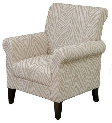 Bigalow Club Chair Beige Zebra Christopher Knight Home