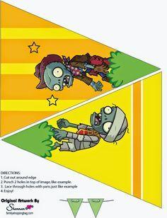 Plantas Vs Zombies Banderines Para Imprimir Gratis Plantas Vs