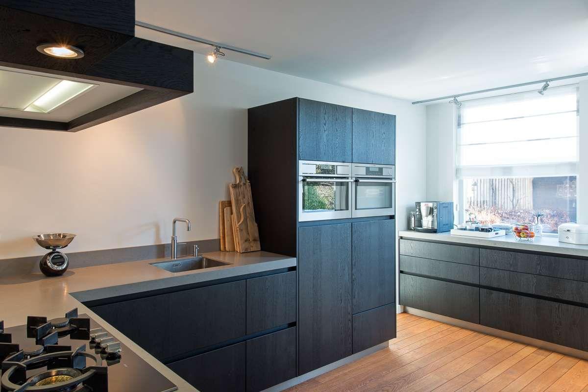 Keuken Eiken Zwart : Tulp keukens heerhugowaard elegant keuken eiken zwart interieur