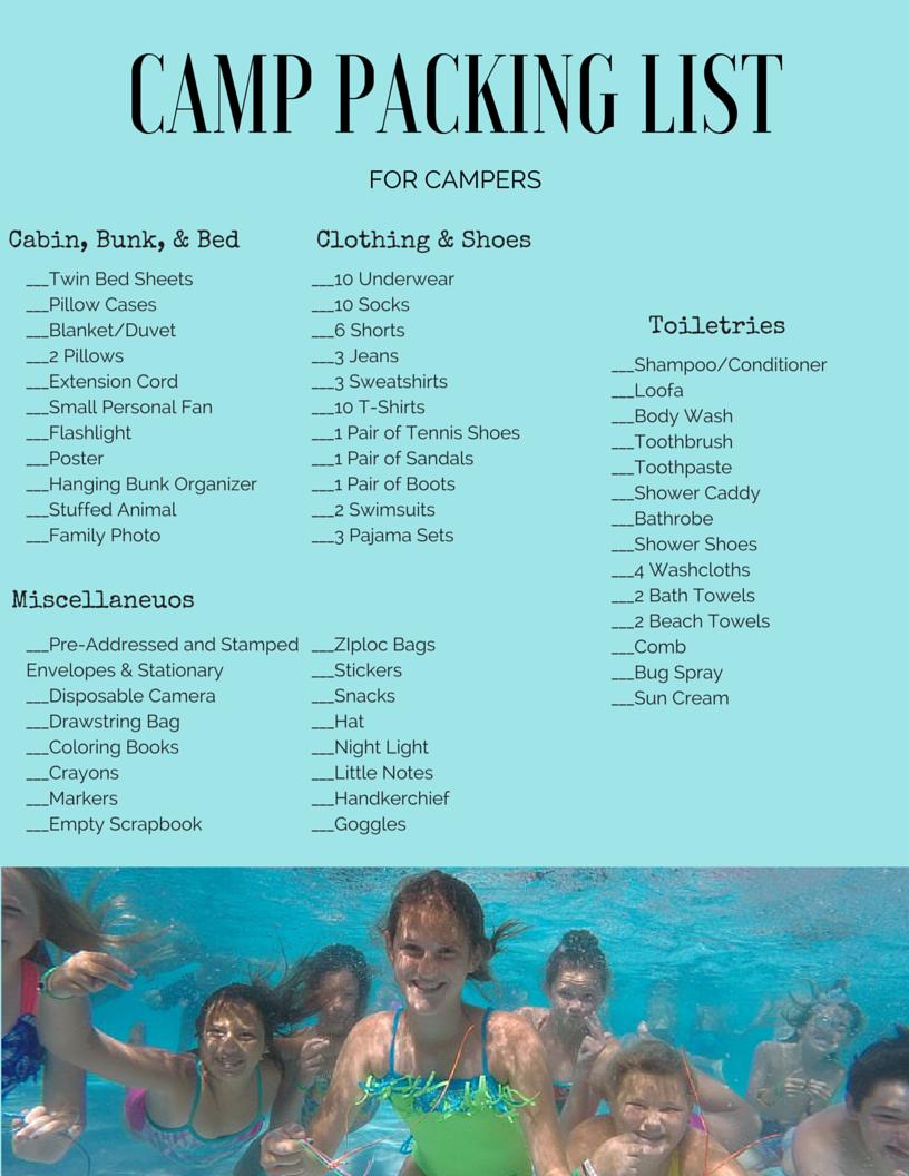 http://simplyhannahslife.weebly.com/blog/summer-camp-series-camper-packing-list Summer Camp Packing List | Sleepaway Camp