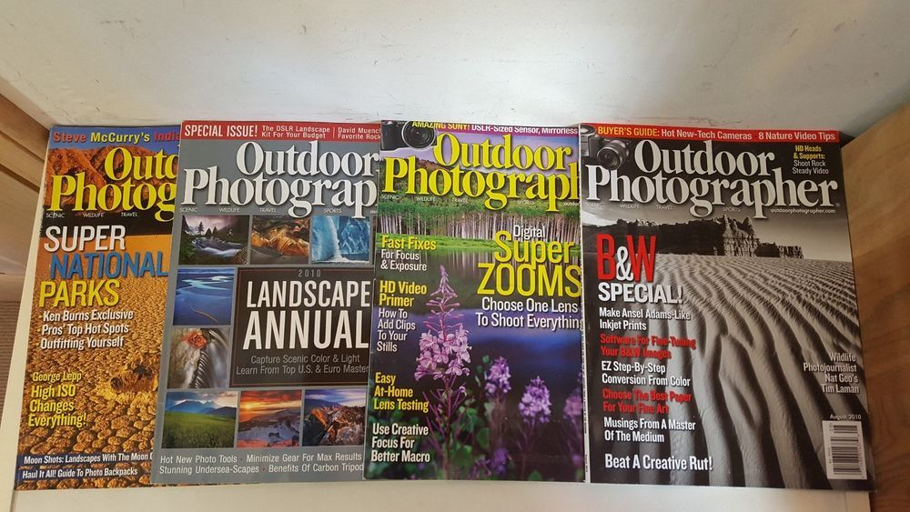 OUTDOOR PHOTOGRAPHER LOT OF 16 PHOTOGRAPHY MAGAZINES 2010-11-12-13 CAMERA GUIDES