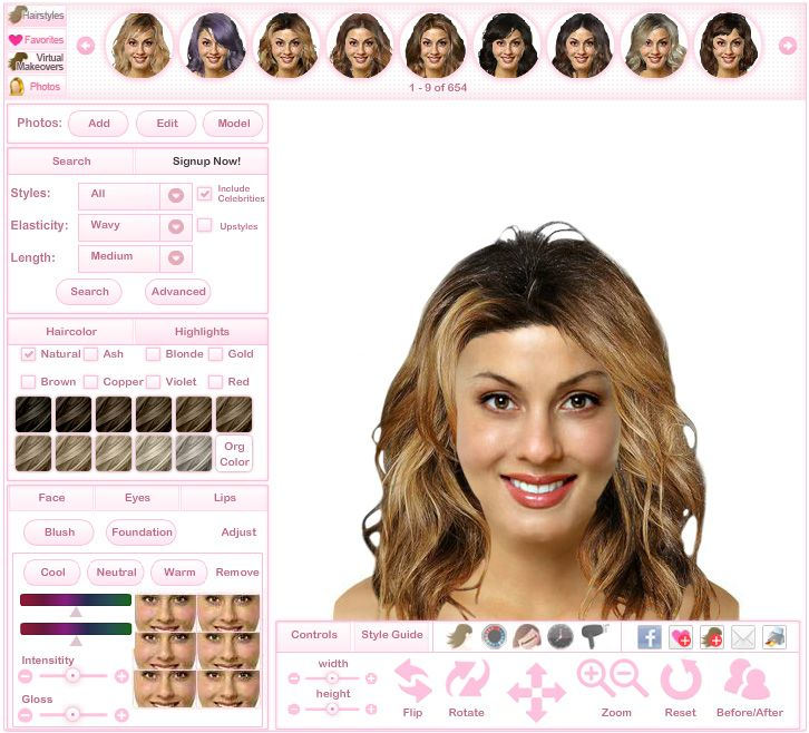Virtual Hairstyles By Thehairstyler Com Virtual Hairstyles Try On Hairstyles Face Shape Hairstyles
