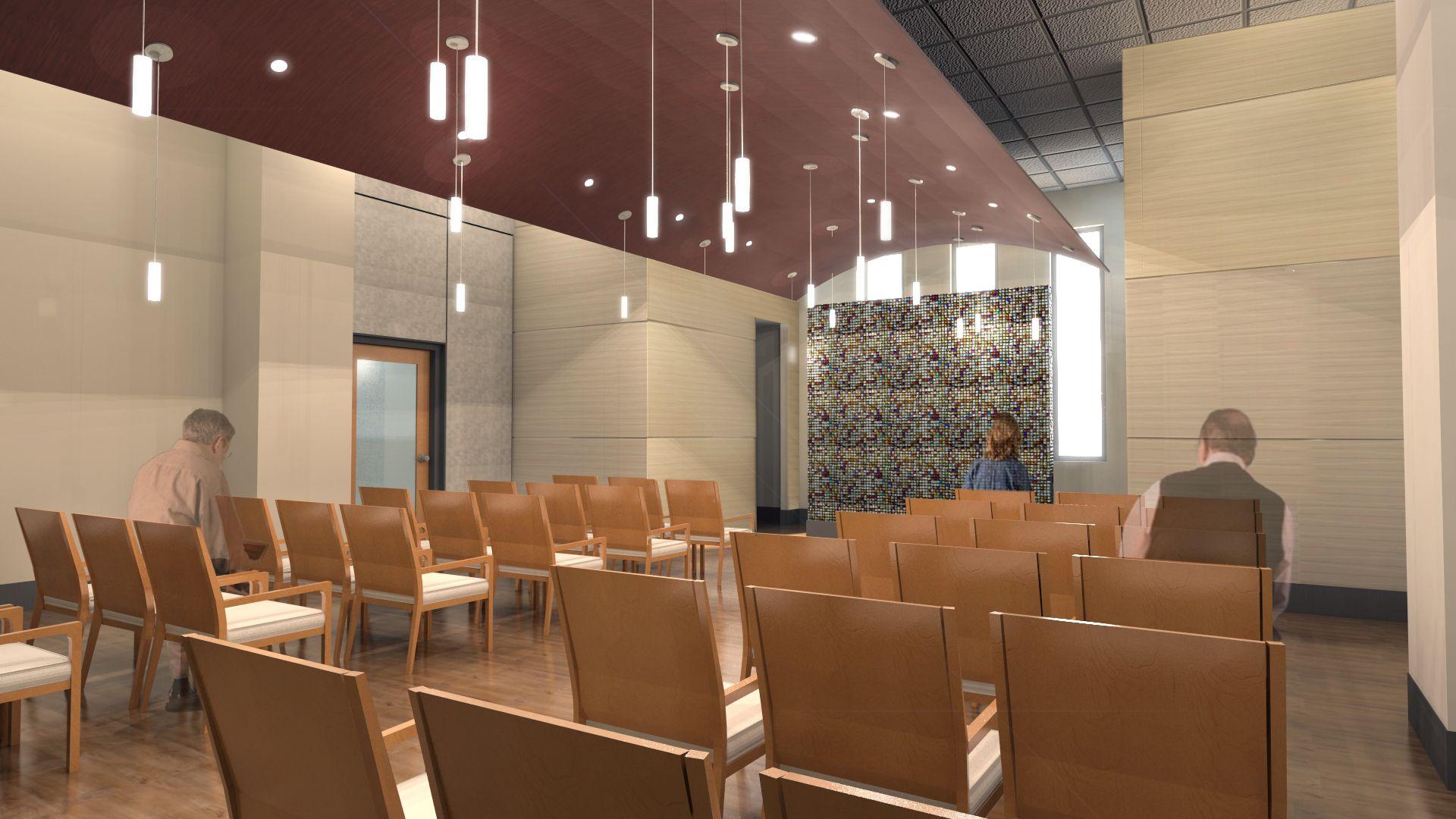 Chapel Healthcare design, Meditation rooms, Design
