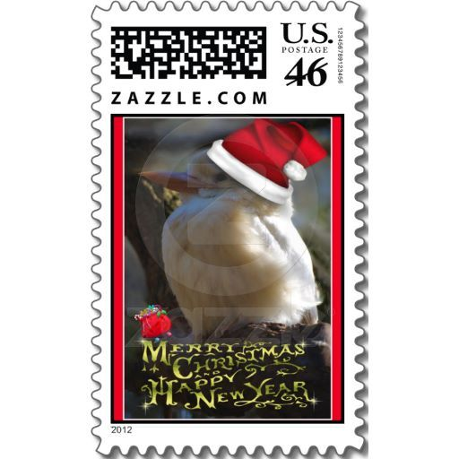 Merry Christmas Happy Holidays wishes Xmas Postage Merry christmas