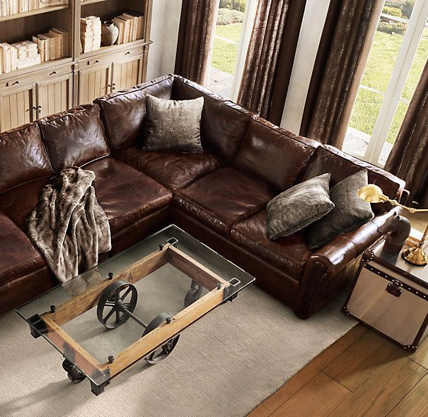 Luxe Faux Fur Mink With The Brown Leather Couch Of My