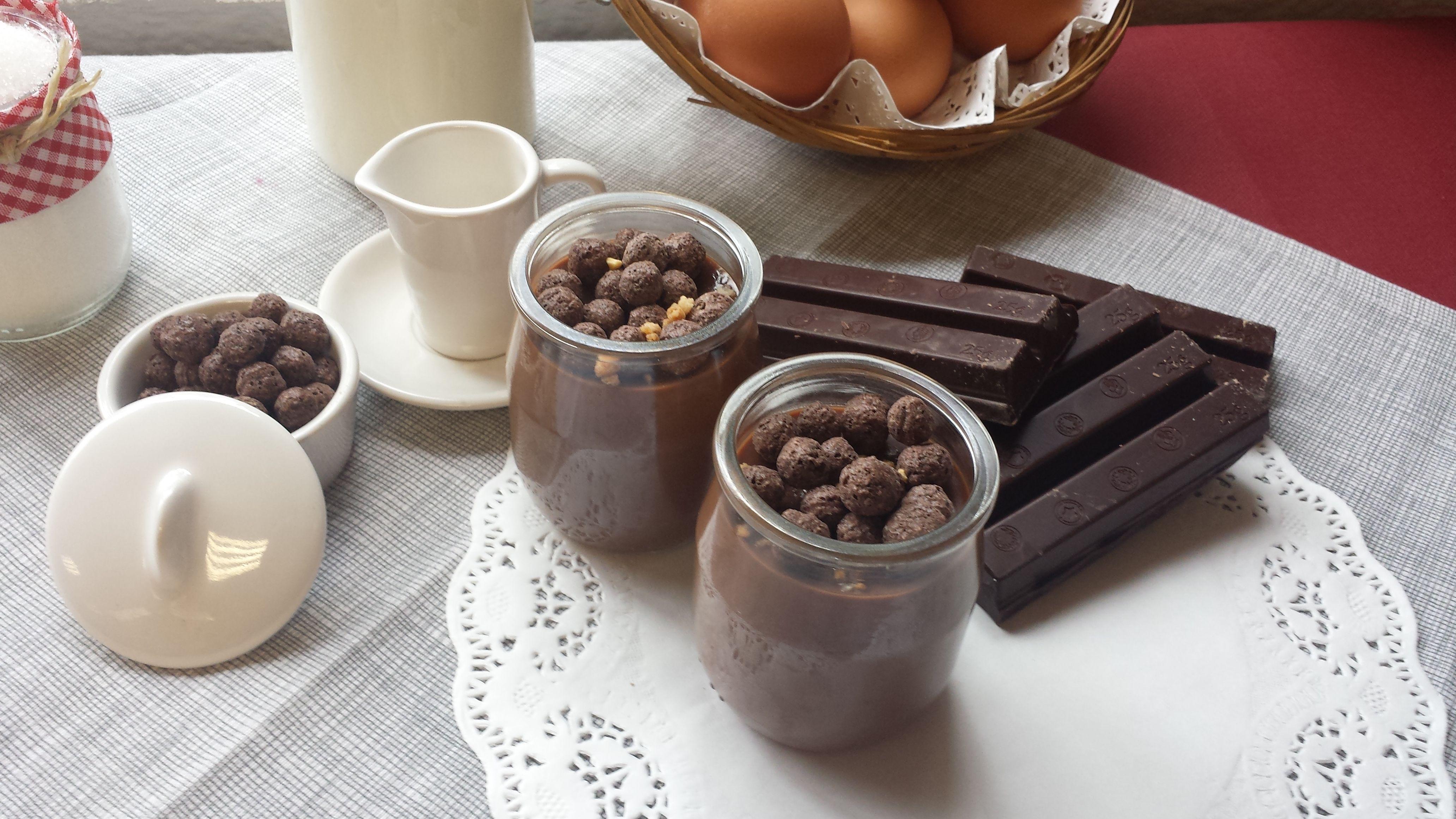 Natillas de chocolate! ¡Buenísimas! #postres