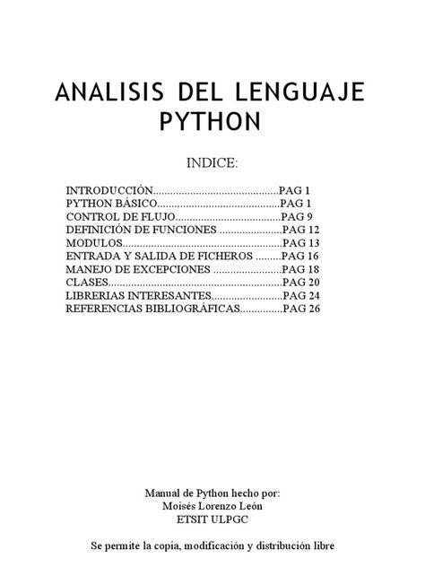 Documento que incluye introducci n python b sico control de flujo definici n de funciones - Librerias python ...