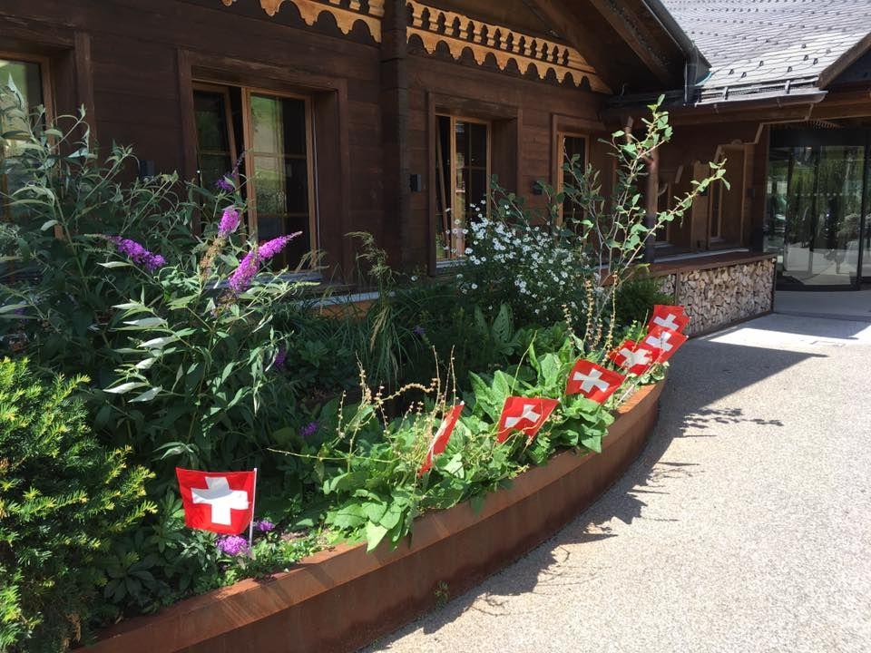 Celebrating Swiss National Day August 1st Switzerland