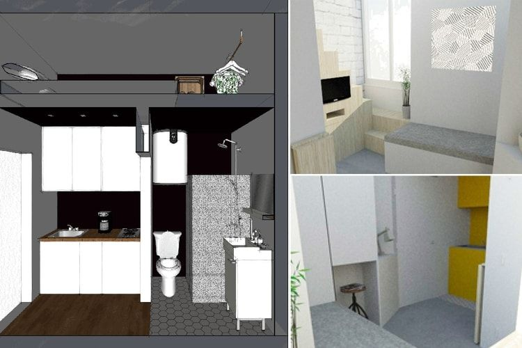 d fi petit espace am nager un mini studio avec mezzanine studio. Black Bedroom Furniture Sets. Home Design Ideas