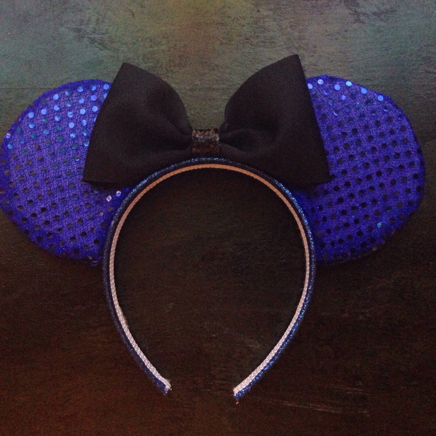 A personal favorite from my Etsy shop https://www.etsy.com/listing/235585828/royal-blue-minnie-mouse-ears