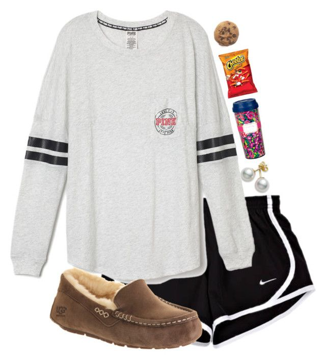 For when I get home by madelyn-abigail on Polyvore featuring UGG Australia and Mikimoto