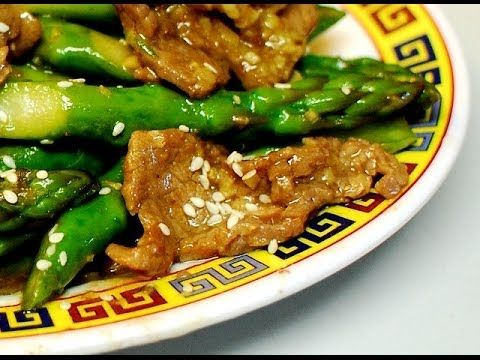Ginger Beef With Asparagus In Hoisin Sauce Authentic Chinese Cooking Rp By Splashtablet Ipad Case Hot And Sour Soup Asparagus Chicken Recipe Chinese Cooking