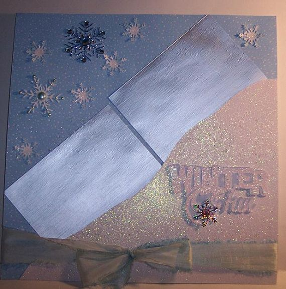 12 x 12 Premade Winter 2 Page Layout for Sledding by maranathateri, $14.00