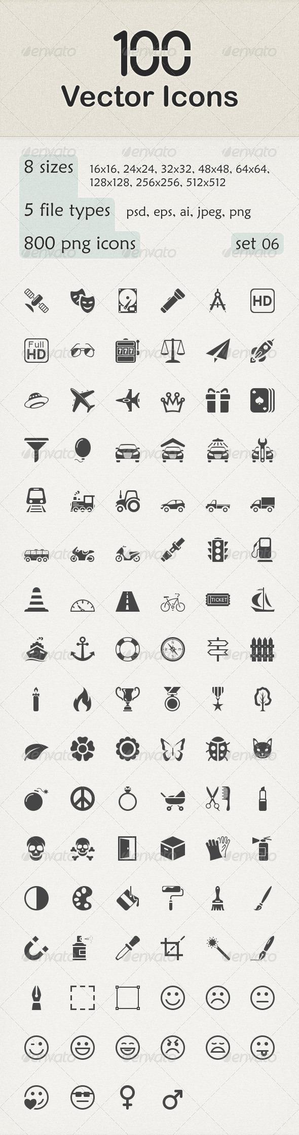100 Vector Icons Vector Icons Icon Vector