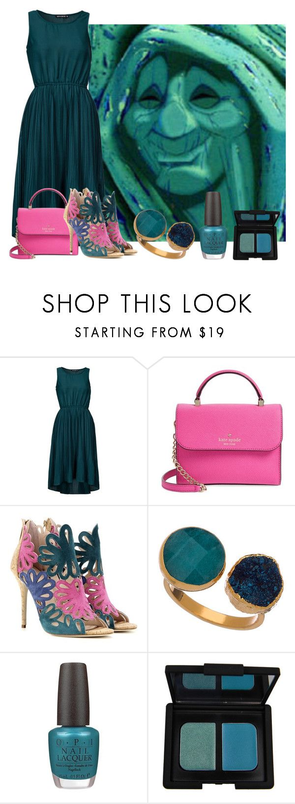 """""""Tagged"""" by shyshaye1234567 ❤ liked on Polyvore featuring Sally&Circle, Kate Spade, Oscar de la Renta, Janna Conner Designs, OPI, NARS Cosmetics, women's clothing, women, female and woman"""