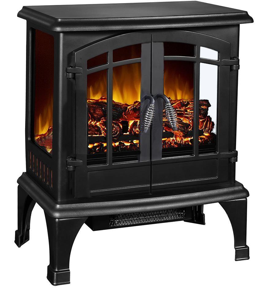 Argo Furniture Jax Infrared Freestanding Compact Electric Stove Satin Black Smokel Electric Fireplace Electric Stove Electric Fireplace Heater