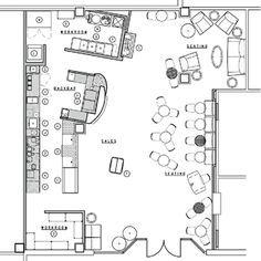 Coffee shop floor plans design decoration starbucks floor plan coffee shopfloor malvernweather Image collections