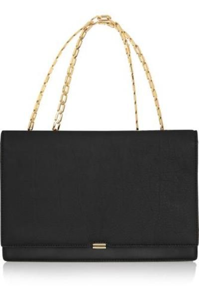So classy  Leather shoulder bag #handbag #women #covetme #victoriabeckham